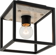 Kalco 512041MB Plaza Modern Matte Black with Polished Nickel Ceiling Lighting
