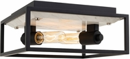 Kalco 512042MB Plaza Contemporary Matte Black with Polished Nickel Ceiling Light