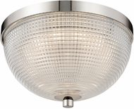 Kalco 512141PN Portland Modern Polished Nickel LED 10  Ceiling Light Fixture