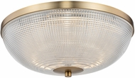 Kalco 512142WB Portland Modern Winter Brass LED 16  Flush Lighting