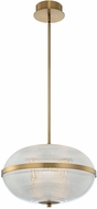 Kalco 512155WB Portland Contemporary Winter Brass LED Hanging Light