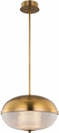 Kalco 512156WB Portland Contemporary Winter Brass LED Pendant Lighting Fixture