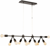 Kalco 512361MB Union Contemporary Matte Black Island Lighting