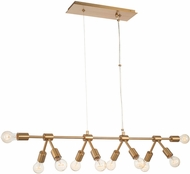 Kalco 512361WB Union Contemporary Winter Brass Kitchen Island Lighting