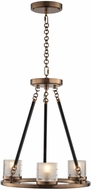 Kalco 512471LB Library Modern Library Brass LED Mini Chandelier Light
