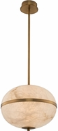 Kalco 512555WB Canterbury Contemporary Winter Brass LED Hanging Pendant Light