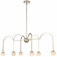 Kalco 512861PN Bistro Modern Polished Nickel LED Kitchen Island Lighting