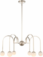 Kalco 512871PN Bistro Modern Polished Nickel LED 28  Chandelier Light