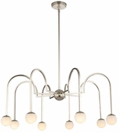 Kalco 512872PN Bistro Modern Polished Nickel LED 34  Chandelier Lighting