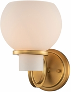 Kalco 513021WB Ascher Contemporary Winter Brass Wall Lighting Sconce