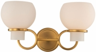 Kalco 513022WB Ascher Contemporary Winter Brass Wall Sconce Lighting