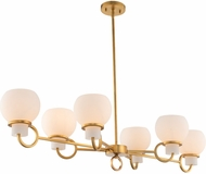 Kalco 513061WB Ascher Modern Winter Brass Island Light Fixture
