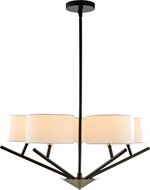 Kalco 513471BPN Tahoe Modern Matte Black and Polished Nickel 26  Chandelier Lamp