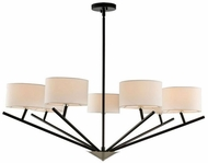 Kalco 513473BPN Tahoe Contemporary Matte Black and Polished Nickel 38  Chandelier Light