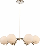 Kalco 513571PN Everett Contemporary Polished Nickel Chandelier Lamp