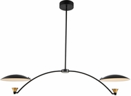 Kalco 513661BWB Redding Modern Matte Black with White and Brass LED Kitchen Island Lighting