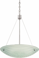 Kalco 5985SN Aqueous Contemporary Satin Nickel 15  Wide Hanging Lamp