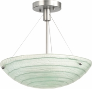 Kalco 5990SN Aqueous Modern Satin Nickel Flush Mount Light Fixture