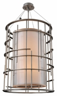 Kalco 6484 Stanford 6 Lamp Tarnished Silver Contemporary Drop Ceiling Lighting