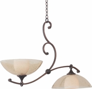 Kalco 6497 Arroyo Antique Copper Island Light Fixture