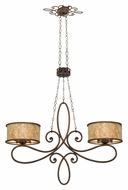 Kalco 6577 Whitfield 45 Inch Wide Antique Style Kitchen Island Lighting