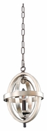 Kalco 6590 Rothwell Polished Nickel Modern Mini Pendant With Old Bronze Accent