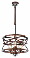 Kalco 6606 Eternity Small 3 Lamp Contemporary Etruscan Bronze Drop Ceiling Lighting