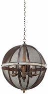 Kalco 7041FG Coronado Contemporary Florence Gold 24  Pendant Lighting