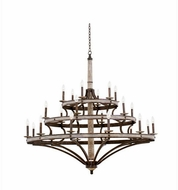 Kalco 7044FG Coronado Contemporary Florence Gold Chandelier Light