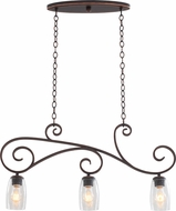 Kalco 7205 Castaic Antique Copper Island Lighting