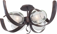 Kalco 7549 Solana Contemporary Oxidized Copper Halogen Ceiling Lighting Fixture