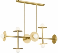 Kelly by Kelly Wearstler KC1008BBS Nodes Modern Burnished Brass Island Lighting