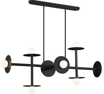 Kelly by Kelly Wearstler KC1008MBK Nodes Contemporary Midnight Black Kitchen Island Lighting