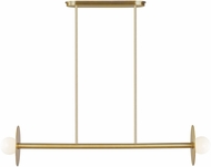 Kelly by Kelly Wearstler KC1012BBS Nodes Modern Burnished Brass Kitchen Island Light