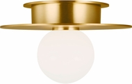 Kelly by Kelly Wearstler KF1001BBS Nodes Contemporary Burnished Brass Ceiling Light Fixture