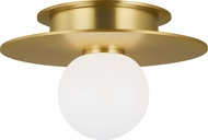 Kelly by Kelly Wearstler KF1001BBS Nodes Contemporary Burnished Brass Halogen 8  Overhead Lighting