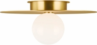 Kelly by Kelly Wearstler KF1021BBS Nodes Contemporary Burnished Brass Flush Mount Light Fixture