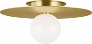 Kelly by Kelly Wearstler KF1021BBS Nodes Contemporary Burnished Brass Halogen 17.5  Flush Mount Ceiling Light Fixture
