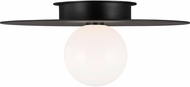 Kelly by Kelly Wearstler KF1021MBK Nodes Contemporary Midnight Black Flush Mount Lighting Fixture