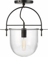 Kelly by Kelly Wearstler KF1071AI Nuance Contemporary Aged Iron Flush Mount Lighting