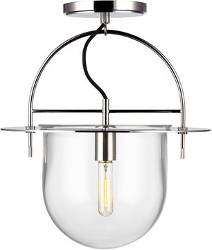 Kelly by Kelly Wearstler KF1071PN Nuance Contemporary Polished Nickel Ceiling Light Fixture