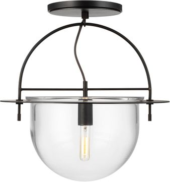 Kelly by Kelly Wearstler KF1081AI Nuance Contemporary Aged Iron Flush Lighting