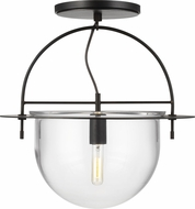 Kelly by Kelly Wearstler KF1081AI Nuance Contemporary Aged Iron Flush Mount Light Fixture