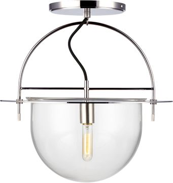 Kelly by Kelly Wearstler KF1081PN Nuance Contemporary Polished Nickel Flush Mount Lighting