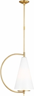 Kelly by Kelly Wearstler KP1041BBS Gesture Contemporary Burnished Brass Mini Hanging Pendant Lighting