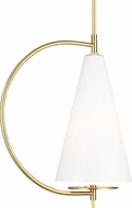 Kelly by Kelly Wearstler KP1041BBS Gesture Contemporary Burnished Brass Mini Pendant Light Fixture