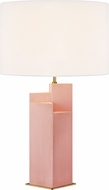 Kelly by Kelly Wearstler KT1182BBBS1 Portman Contemporary Blush with Burnished Brass Table Top Lamp
