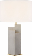 Kelly by Kelly Wearstler KT1182CBBS1 Portman Contemporary Natural Concrete with Burnished Brass Side Table Lamp