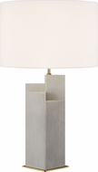 Kelly by Kelly Wearstler KT1182CBBS1 Portman Contemporary Burnished Brass / Natural Concrete Table Lamp