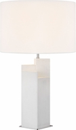 Kelly by Kelly Wearstler KT1182PN1 Portman Contemporary Arctic White with Polished Nickel Table Lamp